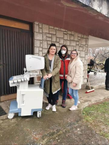 """Danke der Spende eines Ultraschallgerätes von Dr Herder (Urbach) hat das Gebiet um """"Hrvatska Kostajnica"""" die Möglichkeit bekommen Ultraschalluntersuchungen durchzuführen. Eine riesige Bereicherung!"""