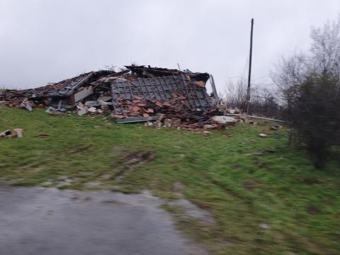 Eingestürzte Häuser